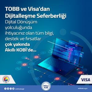"""TOBB ve Visa'dan """"Akıllı KOBİ"""" ile dijitalleşme seferberliği"""
