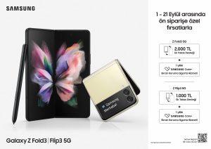 Katlanabilir Galaxy Z Fold3 ve Z Flip3 için ön satışlar başladı!
